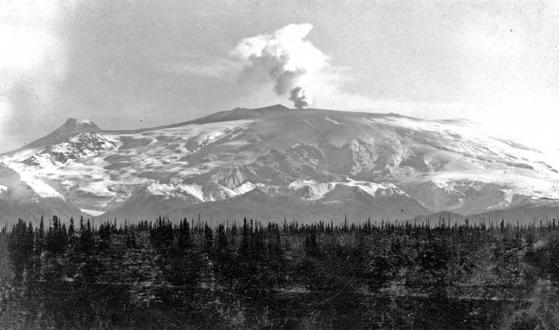 Mt Wrangell after eruption