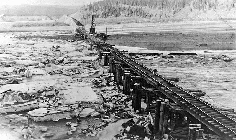ice takes out the trestle