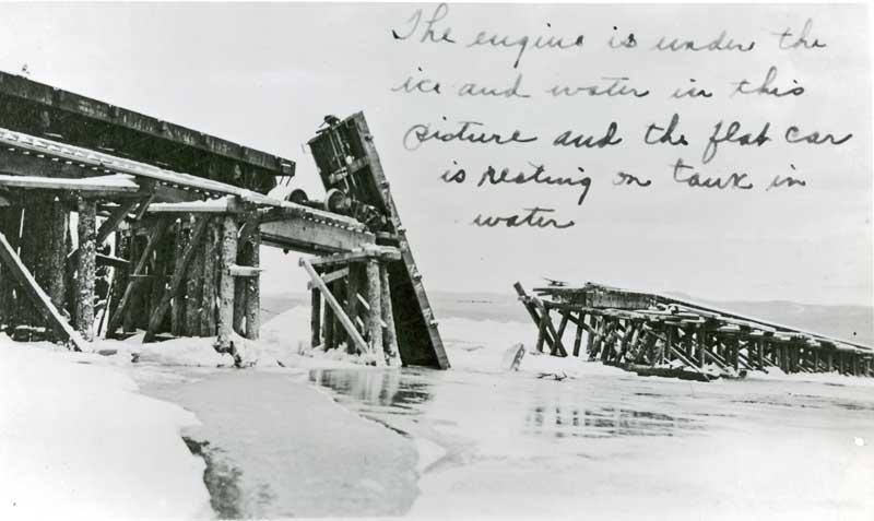 locomotive crashes thru trestle-1