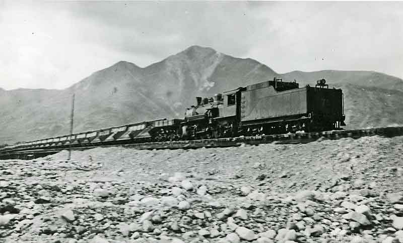 gravel train at McCarthy