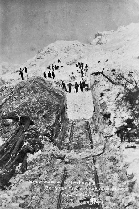 Snowslide near Kennecott
