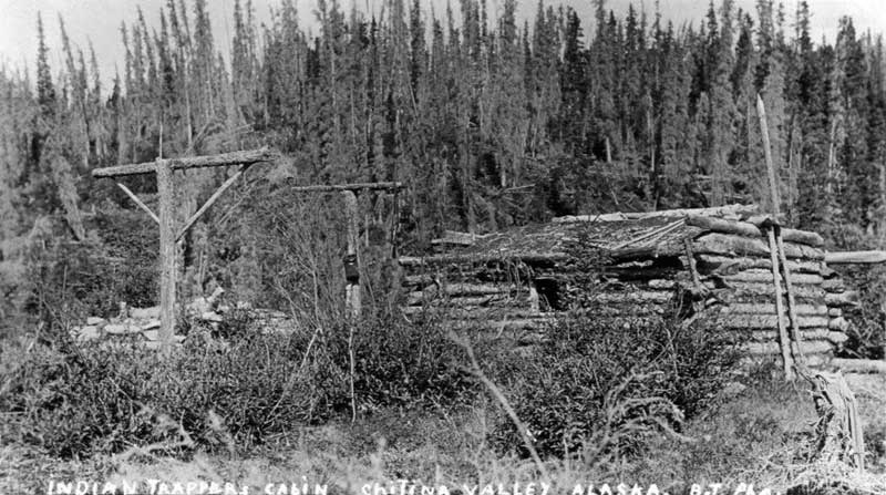 Native cabin near Chitina